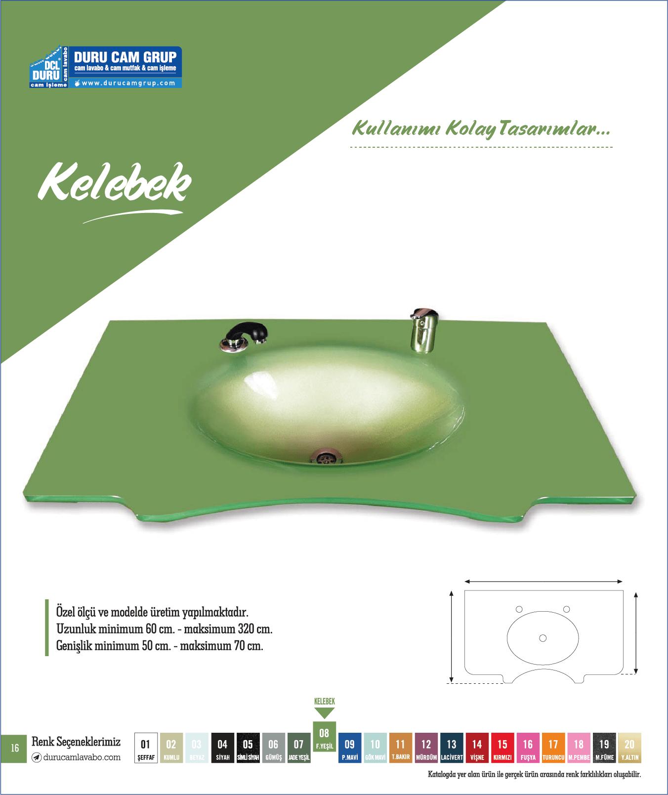 Kelebek Model (Yeşil)